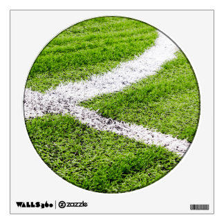 Soccer field lines room stickers