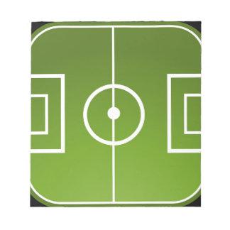 Soccer field notepad