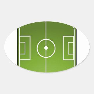 soccer field oval sticker