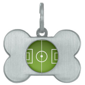 Soccer field pet name tag