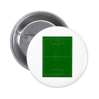 soccer field pinback button