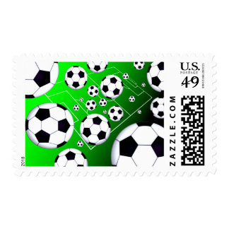 Soccer Field Postage Stamp