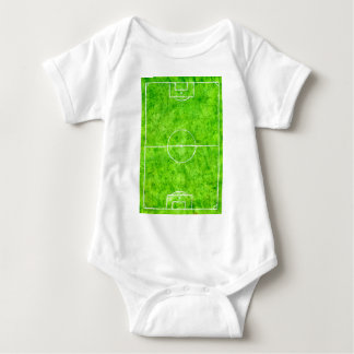Soccer Field Sketch Baby Bodysuit