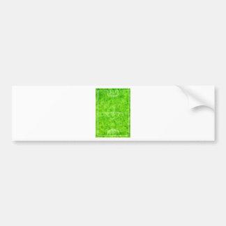 Soccer Field Sketch Bumper Sticker