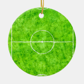 Soccer Field Sketch Ceramic Ornament