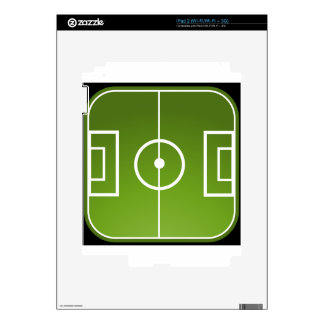 Soccer field skin for the iPad 2