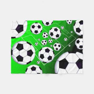 Soccer Field Small Fleece Blanket