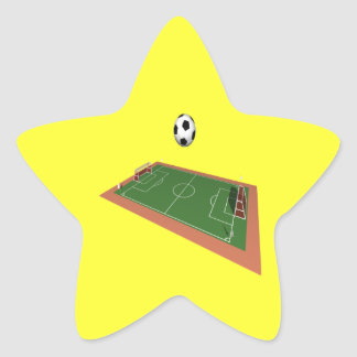Soccer Field Star Sticker