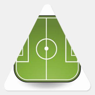 soccer field triangle sticker