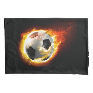 Soccer Fire Ball (1 side) Pillowcase