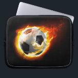"""Soccer Fire Ball Laptop Sleeve<br><div class=""""desc"""">Soccer Fire Ball</div>"""