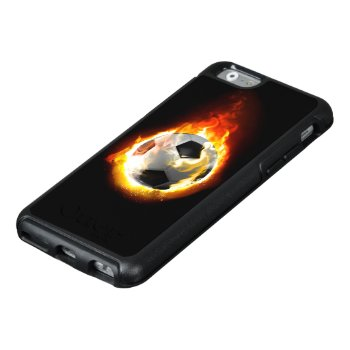 Soccer Fire Ball Otterbox Iphone 6 Case by FantasyCases at Zazzle