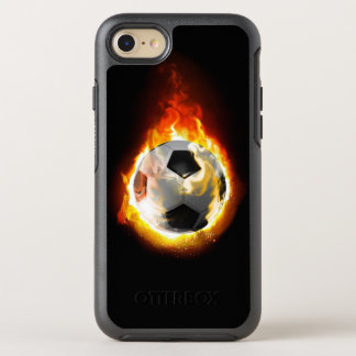 Soccer Fire Ball OtterBox Symmetry iPhone 7 Case