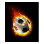 Soccer Fire Ball Poster