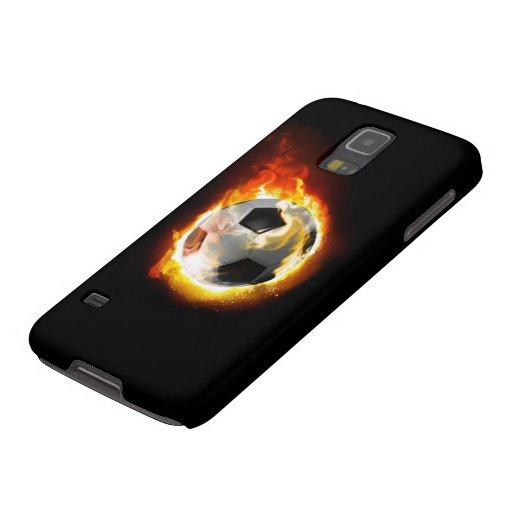 Soccer Fire Ball Samsung Galaxy S5 Case