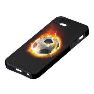 Soccer Fire Ball Tough iPhone 5 Case