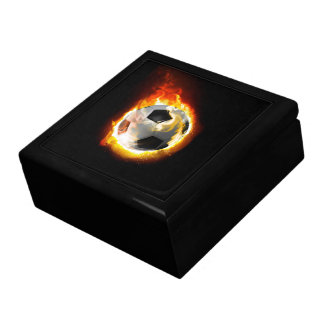 Soccer Fire Ball Trinket Box