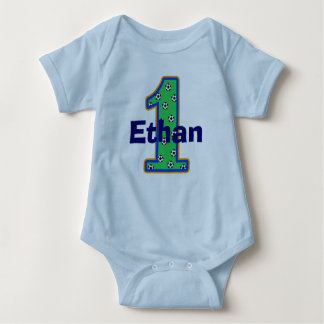 Soccer First Birthday Boy Shirt