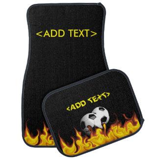 Soccer Flames Car Floor Mat