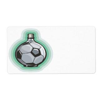 Soccer Flask Label