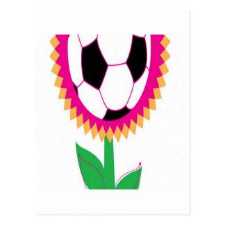 Soccer flower design postcard