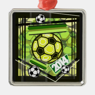 soccer,...football,...2014... metal ornament