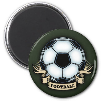 Soccer Football 2 Inch Round Magnet