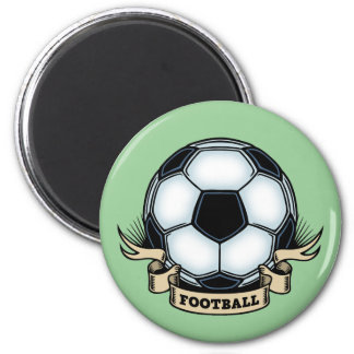 Soccer - Football 2 Inch Round Magnet