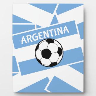Soccer Football Argentina Flag Display Plaques