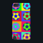"Soccer/ Football Art iPod Touch (5th Generation) Cover<br><div class=""desc"">Image of soccer balls,  footballs in neo pop art style. Good for soccer/football fans.</div>"
