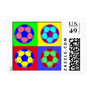 Soccer/ Football Art Stamp