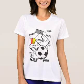 Soccer Football Attack Goal Ladies sport shirt