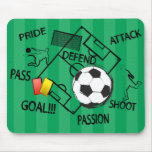 Soccer Football Attack Goal Mouse Pad