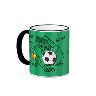 Soccer Football Attack Goal Coffee Mugs