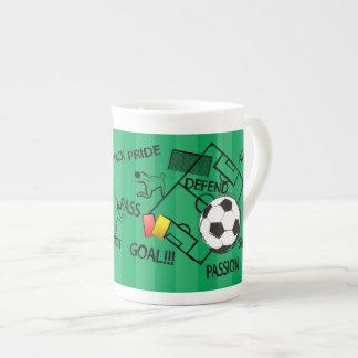 Soccer Football Attack Goal Porcelain Mug