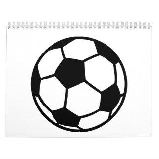 Soccer football ball calendar