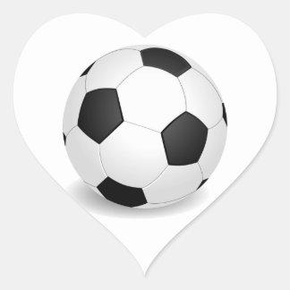Soccer (Football) Ball Heart Sticker