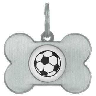 Soccer football ball pet tags