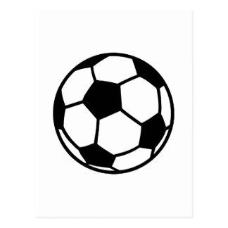 Soccer football ball postcard