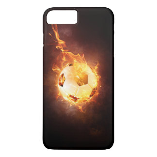 Soccer, Football, Ball under Fire iPhone 8 Plus/7 Plus Case