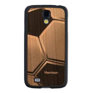 Soccer Football Ball Carved® Cherry Galaxy S4 Slim Case
