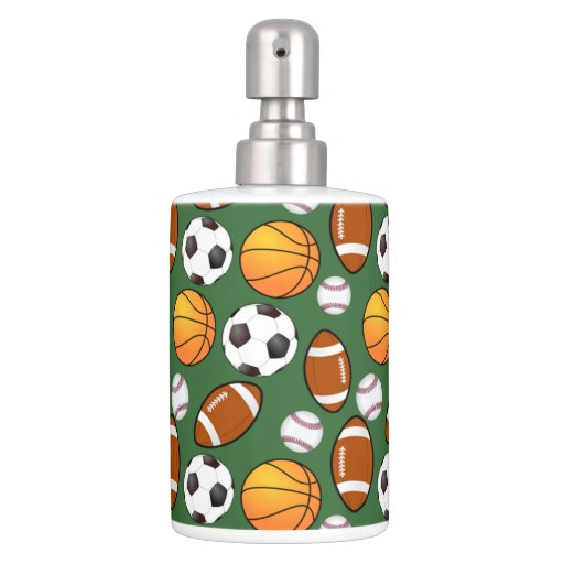 soccer football baseball basketball sports theme bath