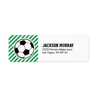 Soccer Football Birthday Baby Shower Party Label