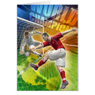 Soccer, football birthday card