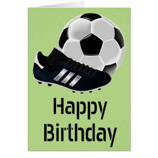 Soccer / Football  birthday theme soccer ball Card