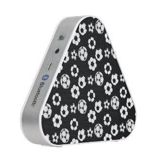 Soccer football black white pattern bluetooth speaker