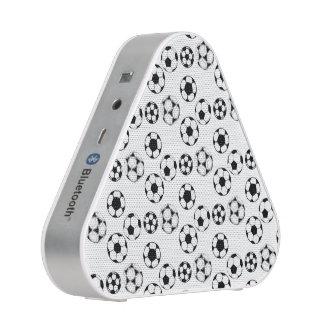 Soccer football black white pattern speaker