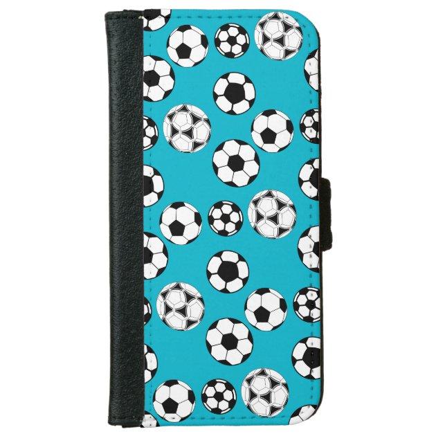 Soccer football blue boys kids wallet phone case for ...