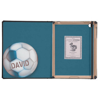 SOCCER FOOTBALL Blue Tone DODOcase iPad Folio Case