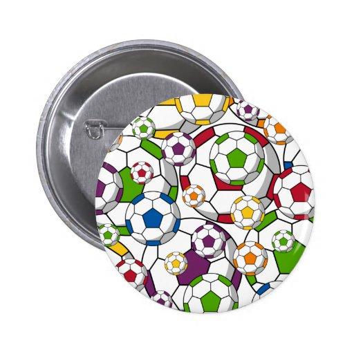 Soccer Football Button Badge